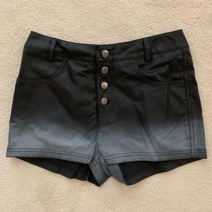 Motel rock's pleather shorts